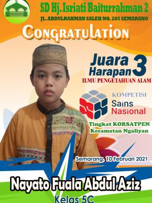 Juara Harapan 3 IPA KSN Kecamatan