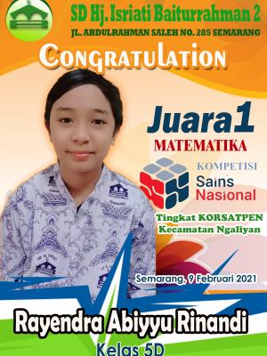 Juara 1 Matematika KSN Kecamatan