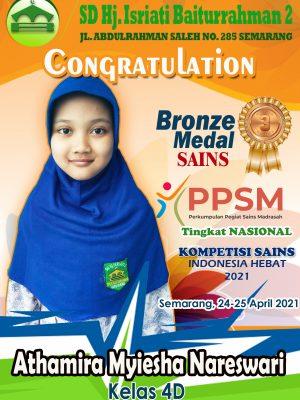 Bronze Medal Sains PPSM Nasional