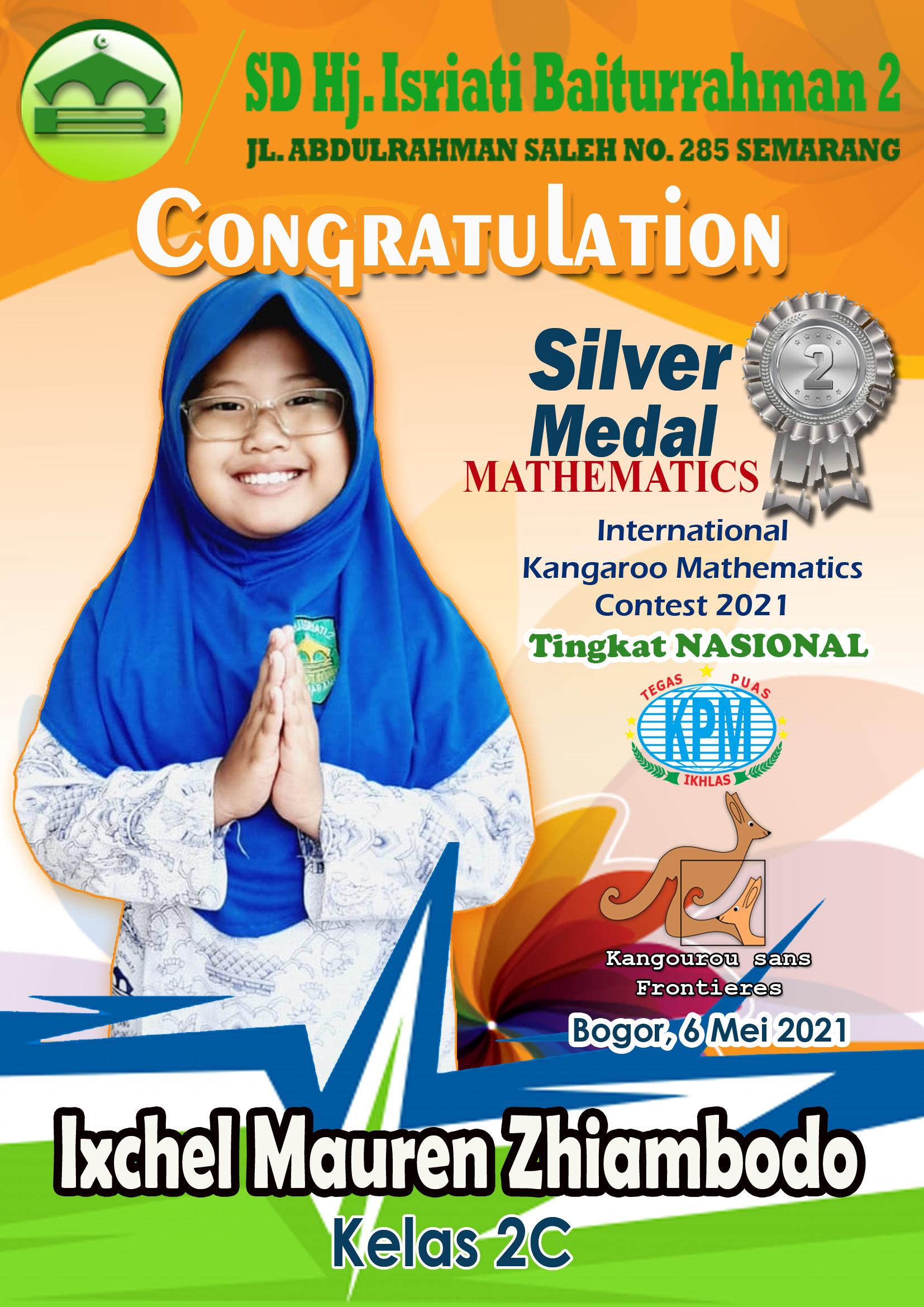 Silver Medal Mathematics International Kangaroo Mathematics Contest 2021 Tk. Nasional