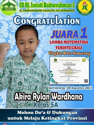 Juara 1 Lomba Matematika Terintegrasi Kompetisi Sains Madrasah Tk. Kota Semarang