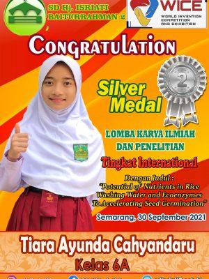 Silver Medal Lomba Karya Ilmiah dan Penelitian WICE Tk. International